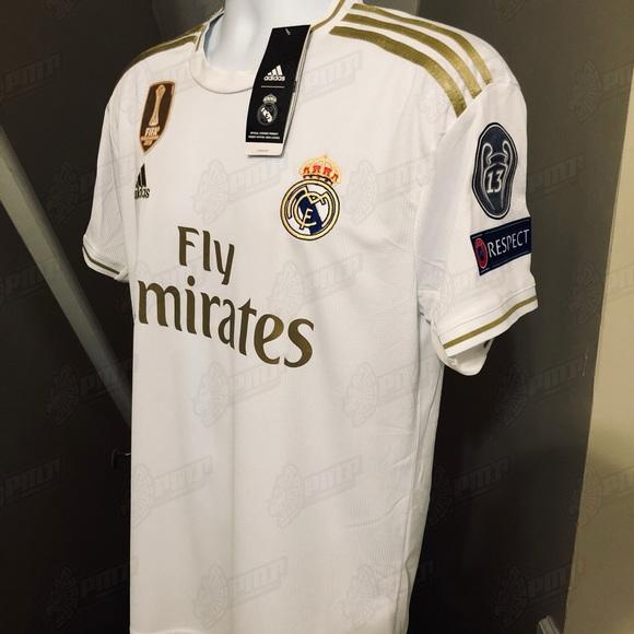 cheaper d731e 8e381 Adidas UEFA Real Madrid Hazard #23 Soccer Jersey